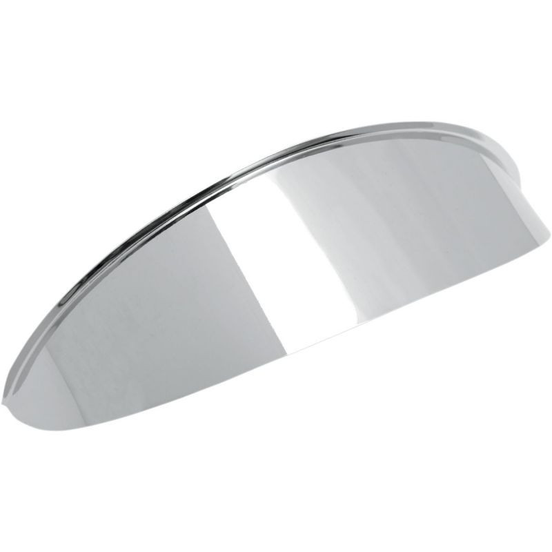 "Headlight Visor 5.75"" Chrome Plain"