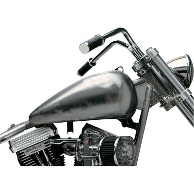Réservoir Fat Bob Flat-Side 13,2L Brut Dyna Softail 84/99