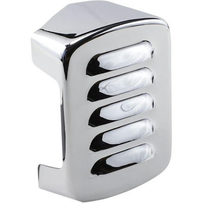 Coil Cover Louvered Chrome