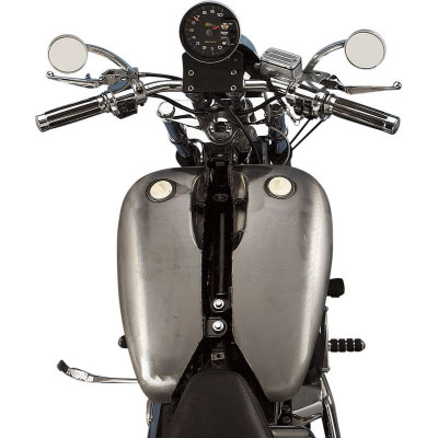 "Réservoir Rallongé 2"" Two-Piece Fat Bob Flat-Side 19,7L Brut Dyna Softail 84/99"