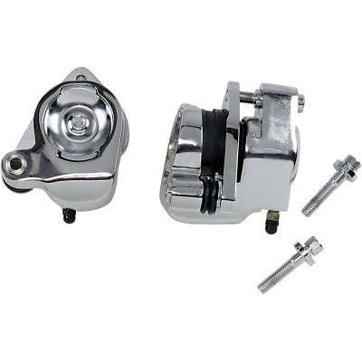 Front Brake Caliper Kit Chrome Dual