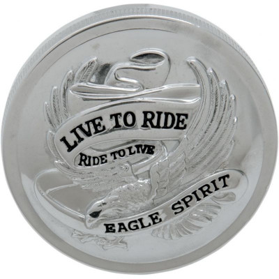 "Gas Cap Live-to-ride 3"" Non-vented Chrome"