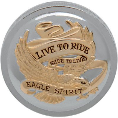 """Gas Cap Live-to-ride 3"""" Vented Chrome/gold"""