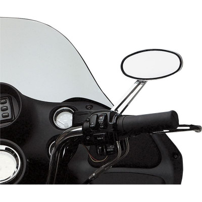 """Mirror Ness Stealth Ii Oval Led Right W/ 6"""" Stem Chrome"""