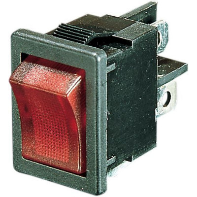 Rocker Switch On/off Lighted Red