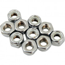 Nylon Insert Nut 1/4-28 Chrome
