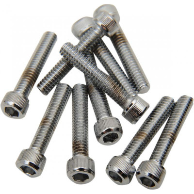 Socket-head Bolt 8-32x0.875 Knurled Chrome