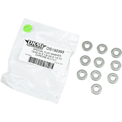 "Flat Washer 0.40625""i.d. 0.125"" Thickness Chrome"