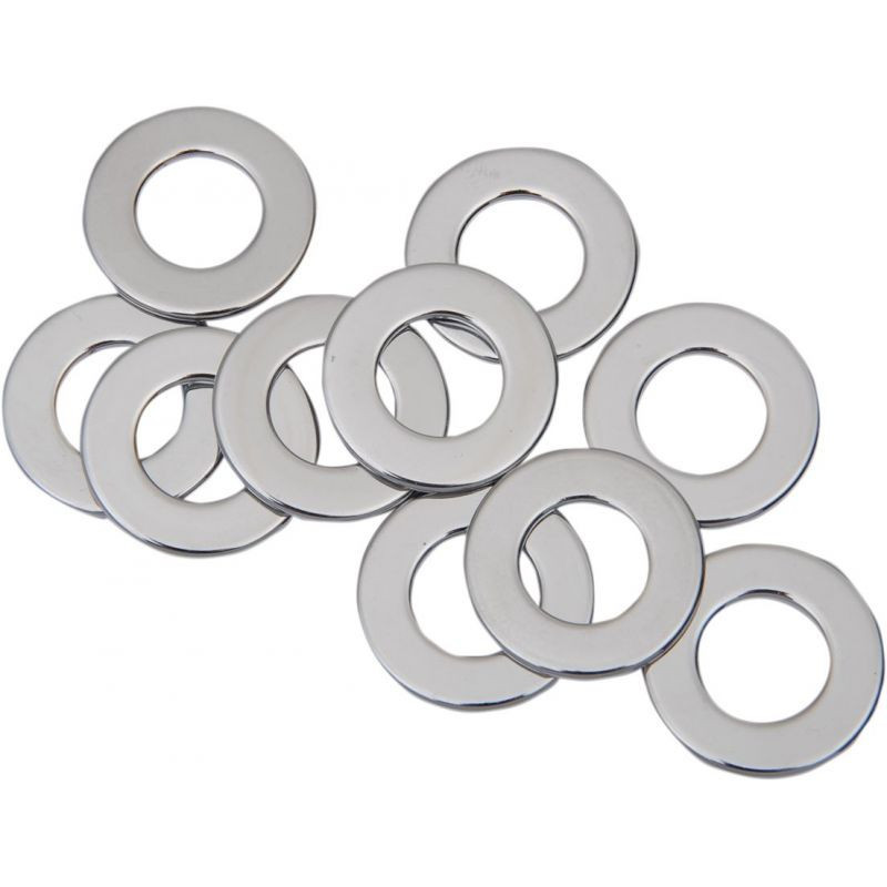 """Flat Washer 0.53125""""i.d. 0.0625"""" Thickness Chrome"""