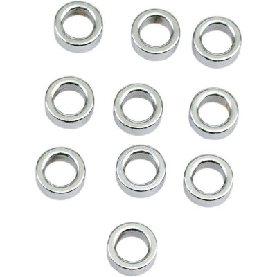 "Flat Washer 0.4375""i.d. 0.3125"" Thickness Chrome"