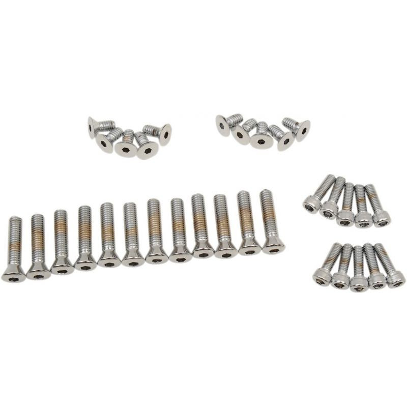 Chrome Socket-head Primary/cam Cover Bolt Kit Knurled