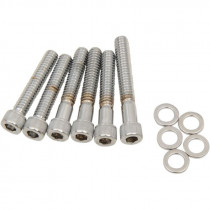 Chrome Socket-head Cam Cover Bolt Kit Knurled