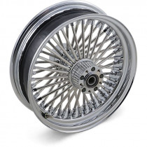 """Roue Avant 50 Rayons Fat Daddy 16"""" x 3.5"""" Chromé Touring 08/16 ABS Double Disque"""