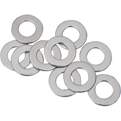 "Flat Washer 0.46875""i.d. 0.078125"" Thickness Chrome"