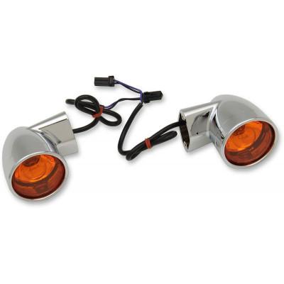 Turn Signal Bullet-style Rear Chrome