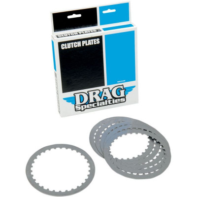 Kit Disques Lisses d'Embrayage Acier Dyna, Softail, Touring, Sportster XL