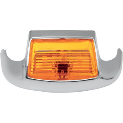 Front Fender Tip Light Amber Lens Chrome