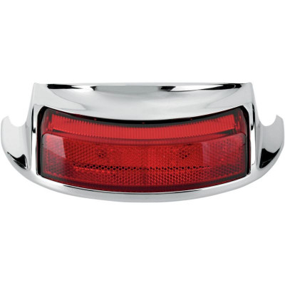 Rear Fender Tip Light Red Lens Chrome
