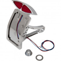 Taillight Led Deco W/ Curved Vertical Side-mount License Plate