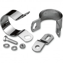 Midway Exhaust Mount Clamp Chrome