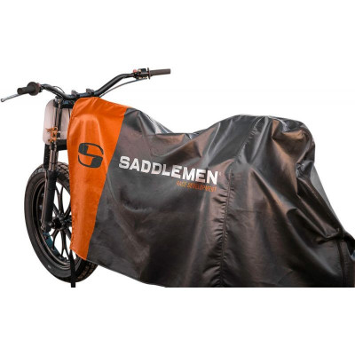 Housse de Protection Moto Saddlemen Semi-Couvrante Noir Orange