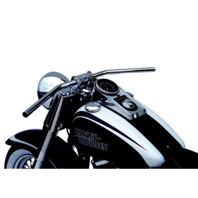 Handlebar Dragbar Long Steel 25.4 Chrome Plated, Cable Openings