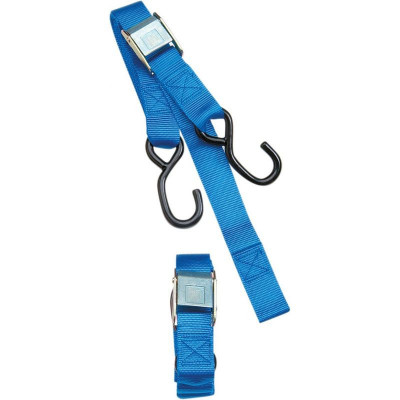 Heavy-duty Cam Buckle Tie-down With Built-in Assist Blue