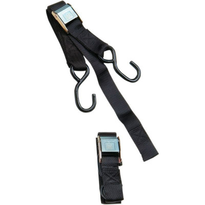 Heavy-duty Cam Buckle Tie-down With Built-in Assist Black