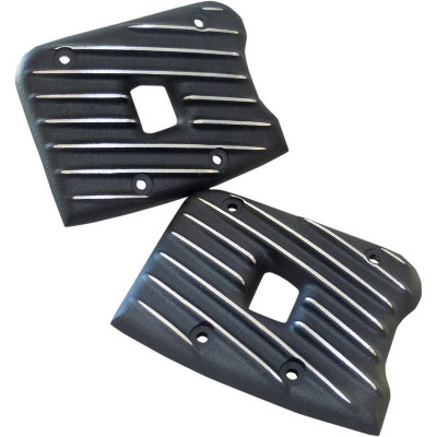 Caches Culbuteurs EMD Rocker Ribster Black Cut Dyna Softail Touring 84/99