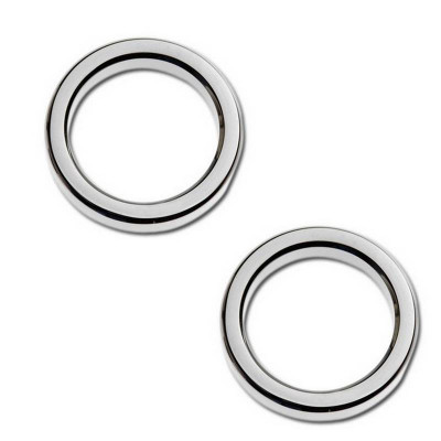 "Entourages de Jauge Bezel 2"" Smooth Chromé Touring 86/13"