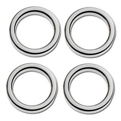"Kit 4 Entourages de Jauge Bezel 2"" Smooth Chromé Touring 86/13"