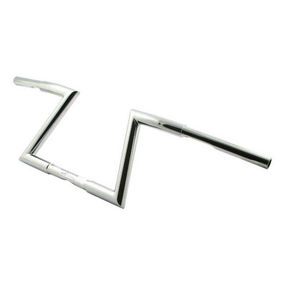 "Guidon Z-Bar Hollister Fehling 1-3/16"" Hauteur 9"" Chromé"
