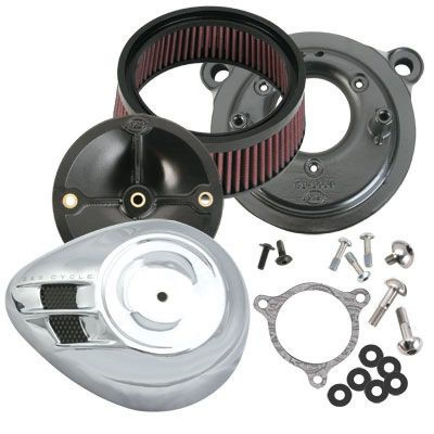 Air Cleaner Kit Stealth Cv/efi W/air Stream Cover Chrome