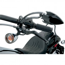Leviers Wide Blade Standard Noir Dyna, Softail, Sportster, Touring