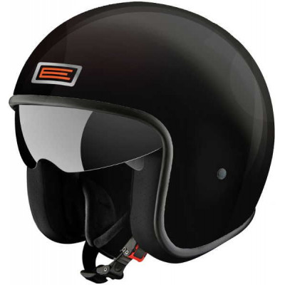 Casque Jet Sprint noir brillant